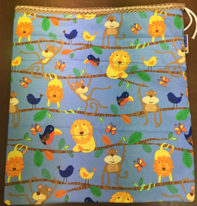 Funky Monkey Cloth Diaper Travel Wet Bag
