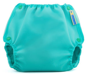 Teal Cloth Diaper Cover with Snap Closures