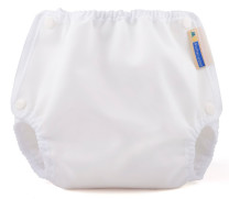 Mother-ease Airflow Snap Closure Diaper Cover- White