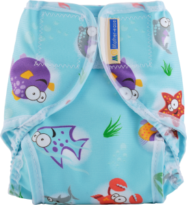 Oceans Cloth Diaper Cover with Velcro Closure