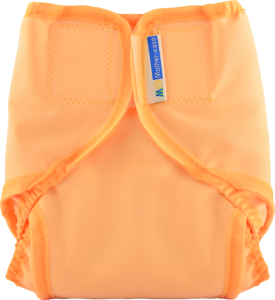 Orange Cloth Diaper Cover with Velcro Closure