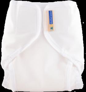 White Cloth Diaper Cover with Velcro Closure