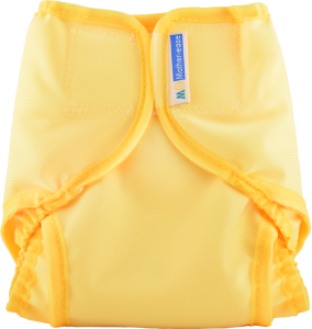 Yellow Cloth Diaper Cover with Velcro Closure