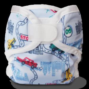 Bummis Super Whisper Wrap VELCRO Diaper Cover- Big City